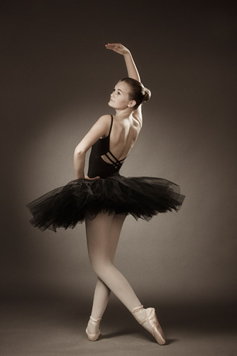 Ballet poses for photoshoot