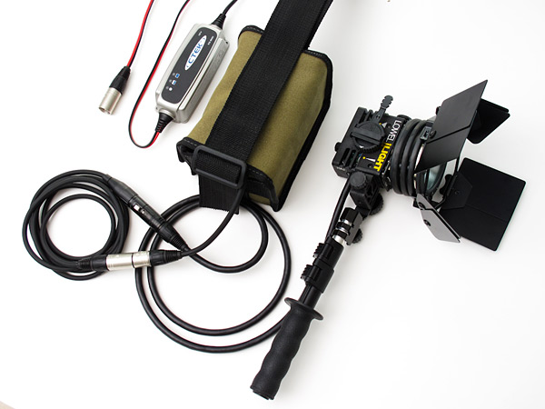 The Lovegrove Kit Includes The Id Light With An XLR Plug System, A Set