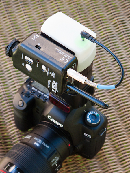 Here is the kit all assembled on my 430 EX2 flash unit.