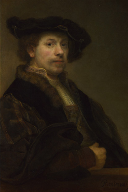 I think one of the best examples of portrait lighting ever is this self portrait in the National Gallery in London.