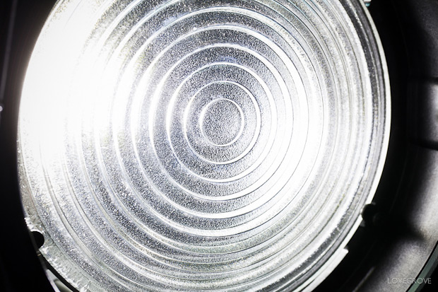 Fresnel lenses have been at the heart of the best spotlights for decades. The dimples surface on the back