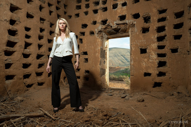 Carla Monaco In The Landscape And Ruins Of Fuerteventura