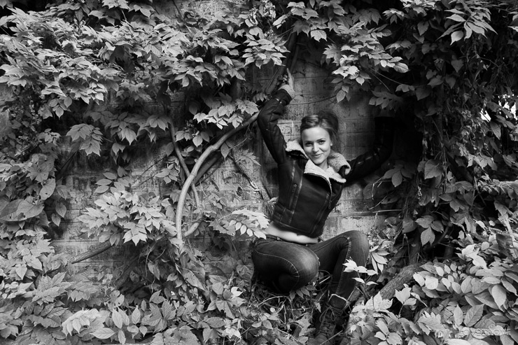 22. One of my 'Girls in hedges' collection. It had to be done.