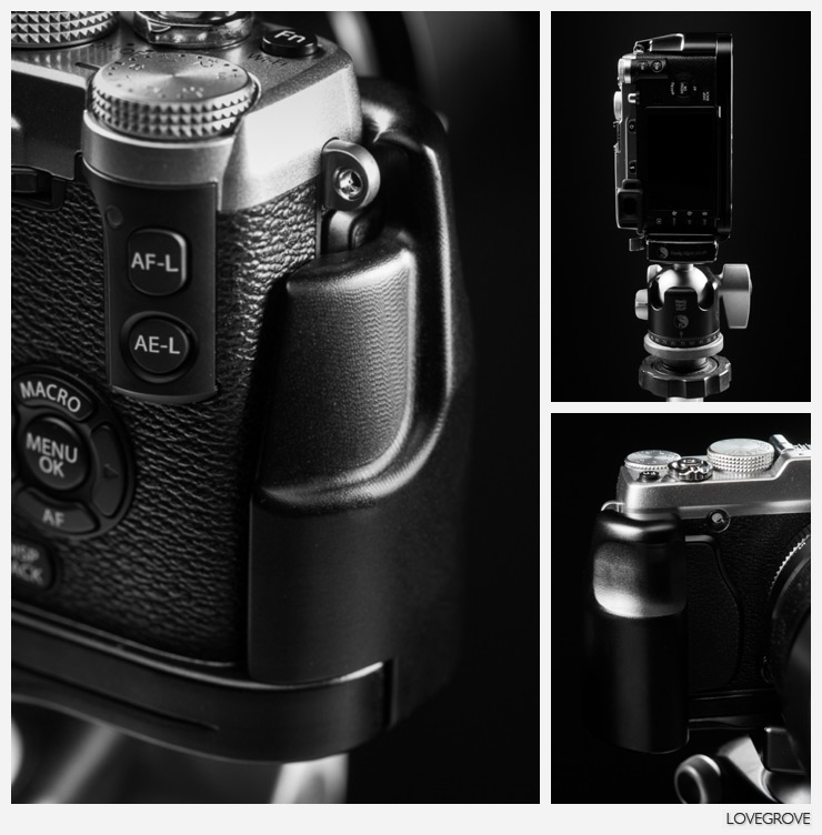 The newly designed bracket has fabulous contours that sit comfortably in my big hands. The X-E2 is now a delight for me to use.