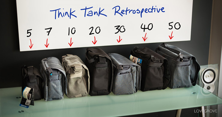 6645a25726 This the Retrospective series camera bags by Think tank. They are just a  small part