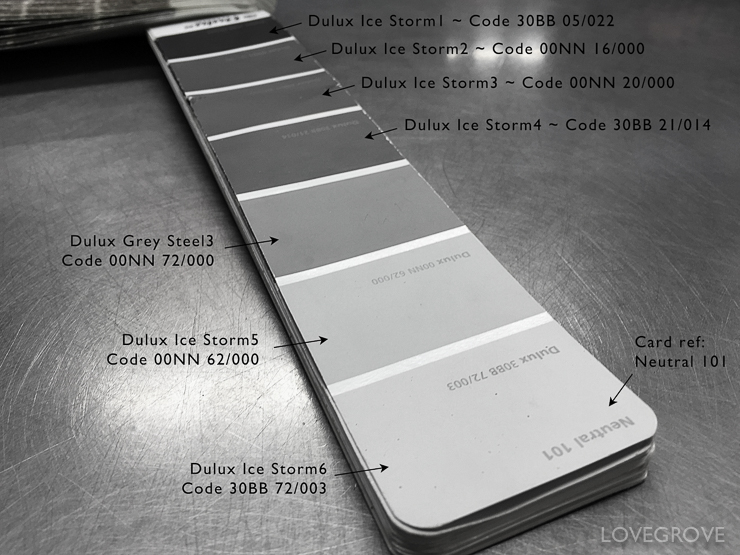 Here Are The Codes For Complete Ice Storm Range Of Neutral Paint Colours