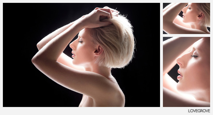 03. A single light was used here to create this ethereal look.