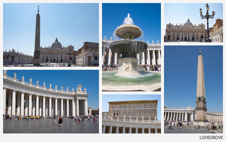 A postcard from Rome. St Peter's Basilica  in the Vatican City.