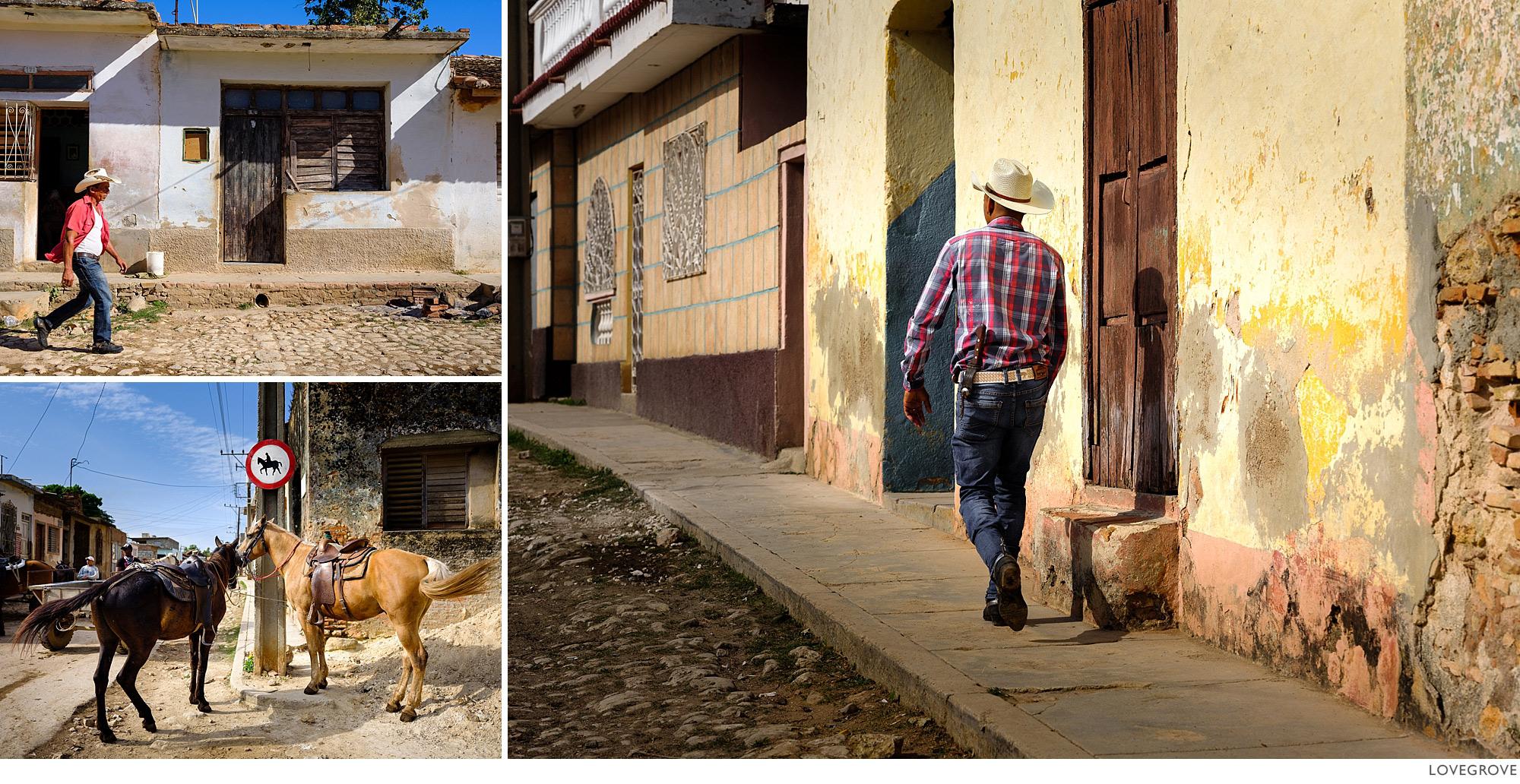 Cowboy in Trinidad, Cuba