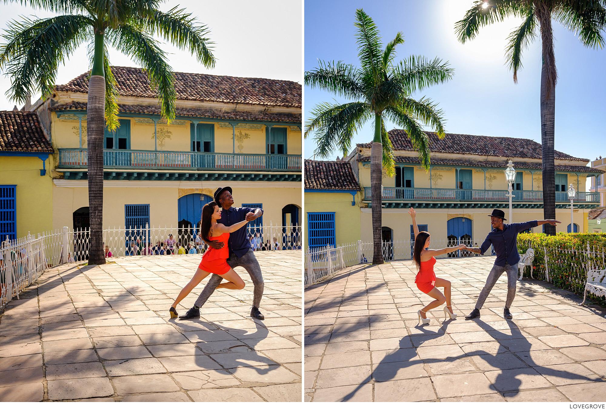 Salsa dancers in Trinidad Cuba