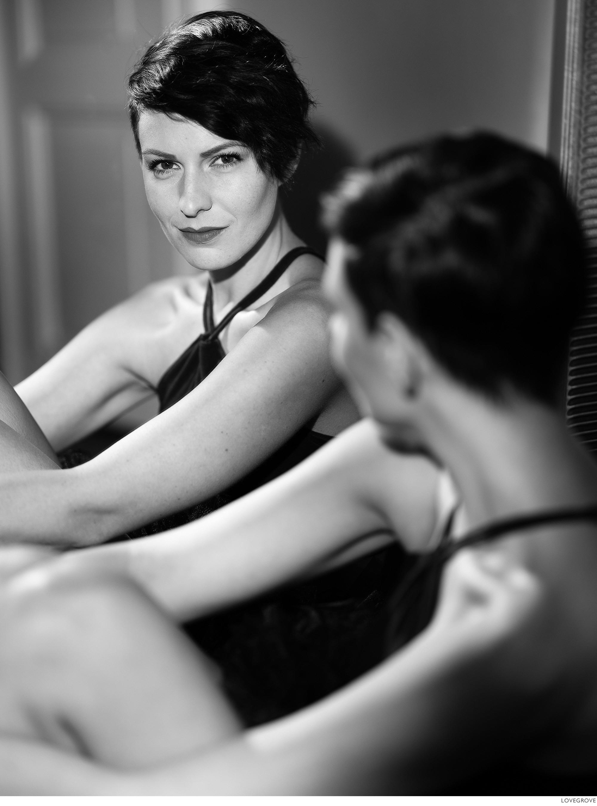 Misha in the mirror