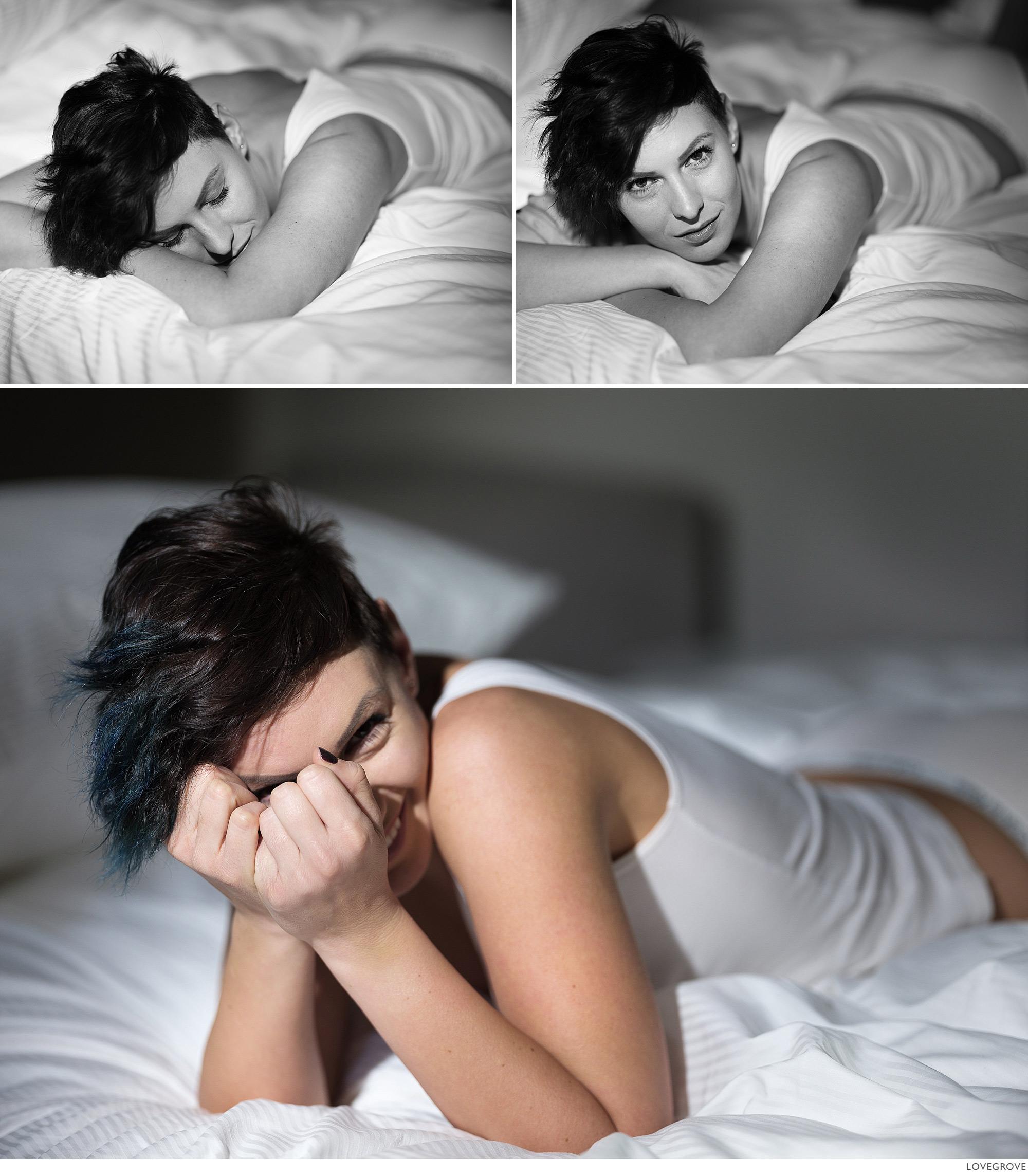 Misha on the bed