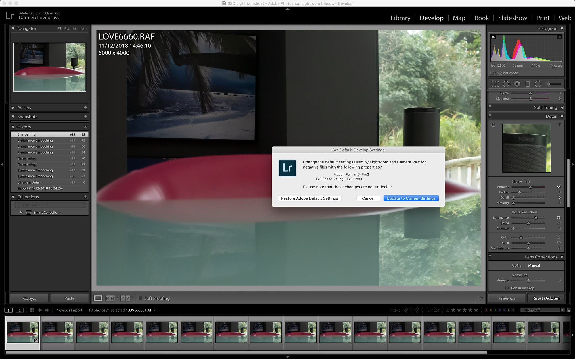 Setting up Lightroom Classic CC for a new camera - ProPhotoNut